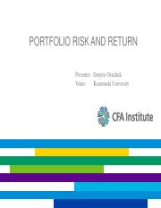 investments_Risk and Return II