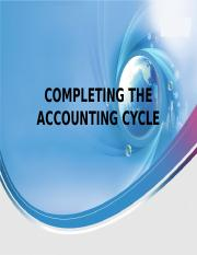 5 Completing Acctg Cycle