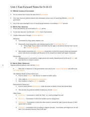 Unit 1 Fast Forward Notes
