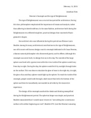 19th Century Architecture - Essay 1