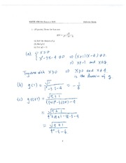 MATH1090 Midterm Exam with Answers