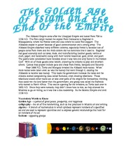 Step 11 The Golden Age of Islam and the End of the Empire