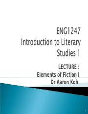 Elements of Fiction I  ENG1247