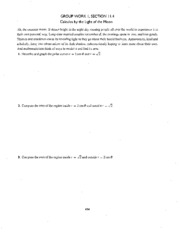 Calculus by the Light of the Moon Problem