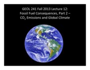Lect12 -- Fossil Consequences 2