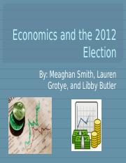 Economics in 2012 elections