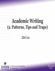 04 Academic Writing (2. Patterns, Tips and Traps).pdf