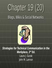 Ch 19 Blogs, Wikis & Web Pages.ppt