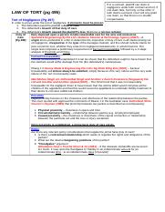 (Notes) Tort of Negligence (Jasper Wong%27s conflicted copy 2012-06-05)
