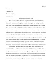 Revised_Who Killed King Kong_essay