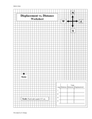 Worksheets Distance Vs Displacement Worksheet displacement distanceworksheet b write down the total distance traveled from home c using ruler
