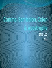 Comma, Semicolon, Colon & Apostrophe.pptx