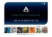 Coal Tests & their use CQC 16-18 August UB [Compatibility Mode]