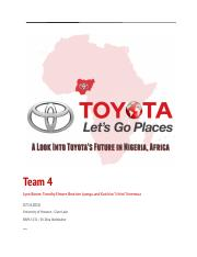 Team 4 Project - Toyota in NigeriaF1.docx