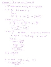 Chapter 2 Test Solutions