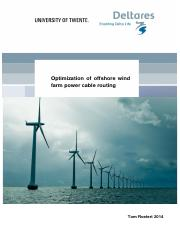 Optimization of offshore wind farm power cable routing master Thesis Tom Roetert - final disclaimer