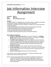 career meet with assignment