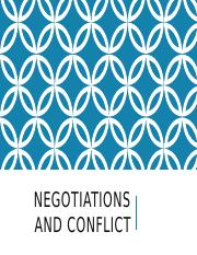 Negotiations and Conflict notes (ecollege)