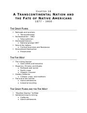 (Ch 16) A Transcontinental Nation and the Fate of Native Americans