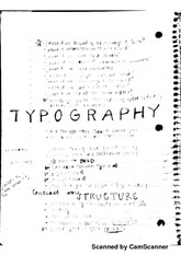 notes on typography