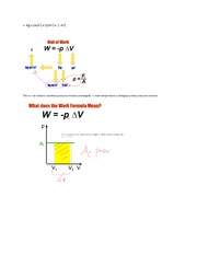 Phys 1028 Ideal Gas Work Formula Lecture 16-17 Notes