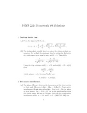 Phys 2214 hw8 Solutions