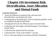 YU,3541B Fall 2008, Chapter#16, MutualFunds