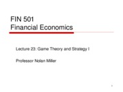 Lecture 23 - Game Theory & Strategy -  1