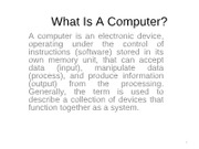 Introduction to computers Lecture#1