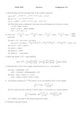 MATH 3210 Assignment 5 Solutions