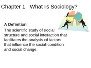 Ch1 - What is Sociology_