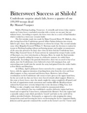 Bittersweet Success at Shiloh