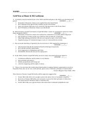 Homework (15) Cold War at Home & McCarthyism Hist 1302