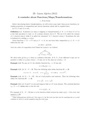 A handout on functions
