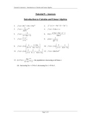 Tutorial 9 Answers