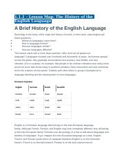 1.1.1 - Lesson Map - The History of the English Language.docx