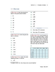 Number Systems Exercises
