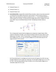 EE3114 Hwk 3 MOSFET Assignment