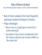 Internal Rate of Return (1)