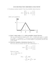 Practice Exam 1 Midterm 2 Solution on Engineering Probability and Statistics