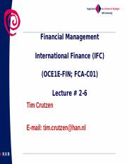 lecture 2-6 International  Finance  IFC-C