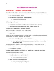 Microeconomics Exam #3 Study Guide