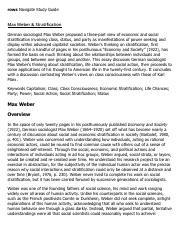 Max Weber & Stratification Research Paper Starter - eNotes.pdf