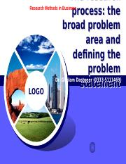 BRM lecture 2 problem area and problem statement and literature review.pptm