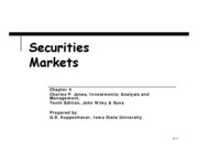 Chapter 4 -Securities Markets