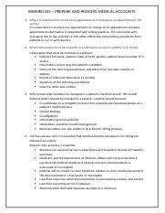 BSBMED302 PREPARE AND PROCESS MEDICAL ACCOUNTS PAGE 4.docx
