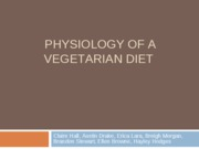Physiology of a vegetarian diet-1