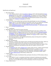 WC2 Study Guide Ch. 43 Russ Rev to 1939