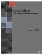 Lehman Brothers Case Analysis
