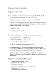 Answers to Selected Questions in Chaps 11 and 13